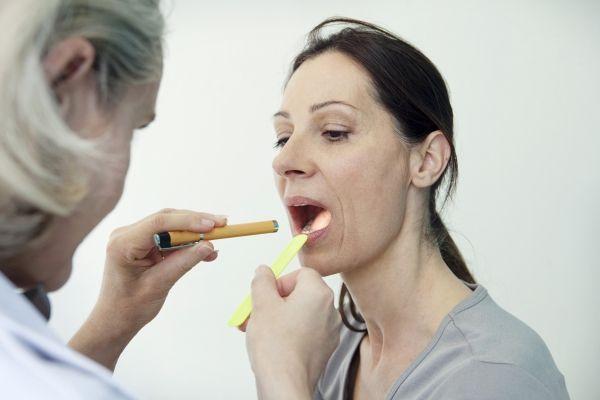 тонзиллит у пациента