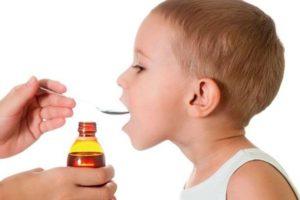 прием сиропа у детей