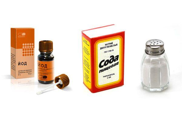 полоскание горла содой с йодом