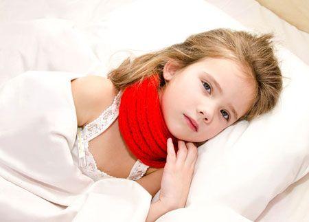 девочка заболела ангиной