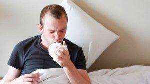 у мужщины сильный кашель
